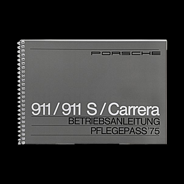 Porsche Instructieboekje voor 911, 911 S, 911 Carrera (Engels) – modeljaar 1975