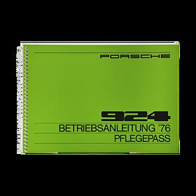 Porsche Instructieboekje voor 924 (DE) – modeljaar 1976