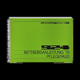 Porsche Instructieboekje voor 924 (Engels) – modeljaar 1976