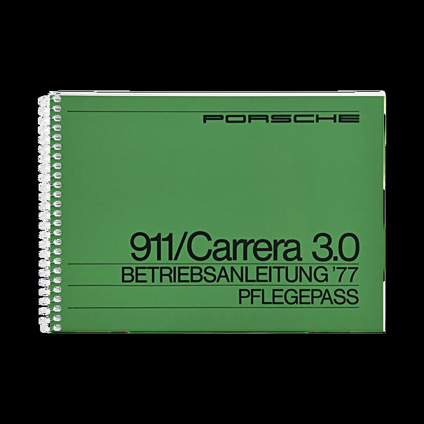 Porsche Instructieboekje voor 911 Carrera 3.0 (DE) – modeljaar 1977