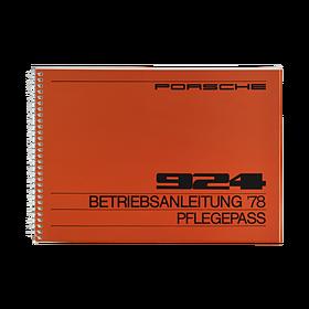 Porsche Instructieboekje voor 924 (DE) – modeljaar 1978