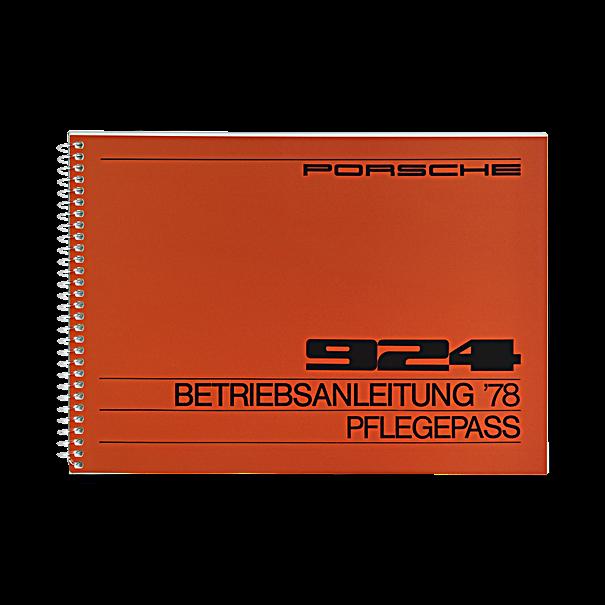 Porsche Instructieboekje voor 924 (Engels) – modeljaar 1978