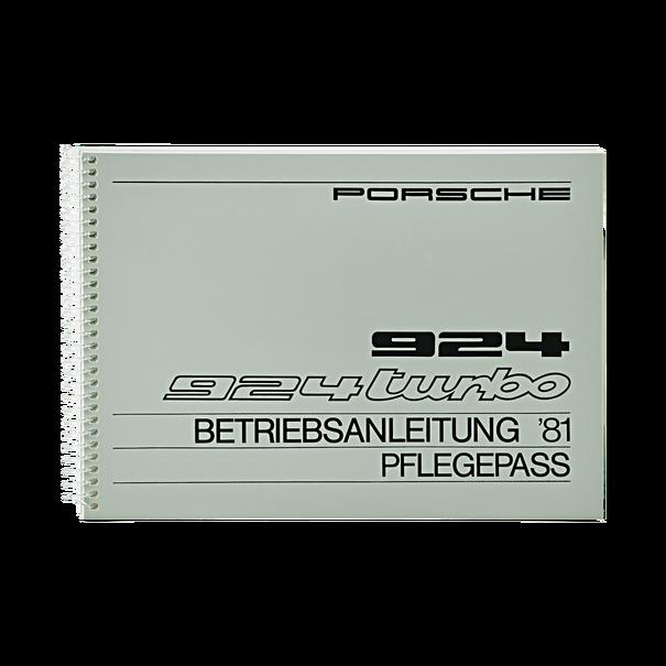 Porsche Instructieboekje voor 924, 924 Turbo (DE) – modeljaar 1981