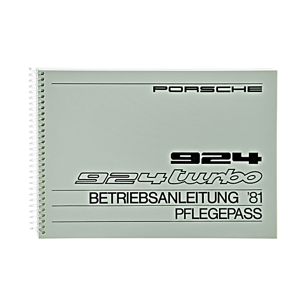 Porsche Instructieboekje voor 924, 924 Turbo (Engels) – modeljaar 1981
