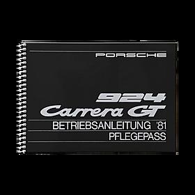 Porsche Instructieboekje voor 924 Carrera GT (Engels) – modeljaar 1981