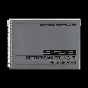 Porsche Instructieboekje voor 928 (DE) – modeljaar 1981