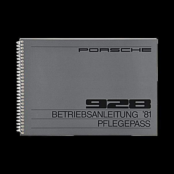 Porsche Instructieboekje voor 928 (Engels) – modeljaar 1981