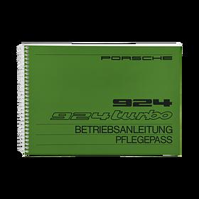 Porsche Instructieboekje voor 924, 924 Turbo (DE) – modeljaar 1982