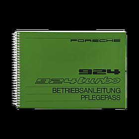 Porsche Instructieboekje voor 924, 924 Turbo (Engels) – modeljaar 1982