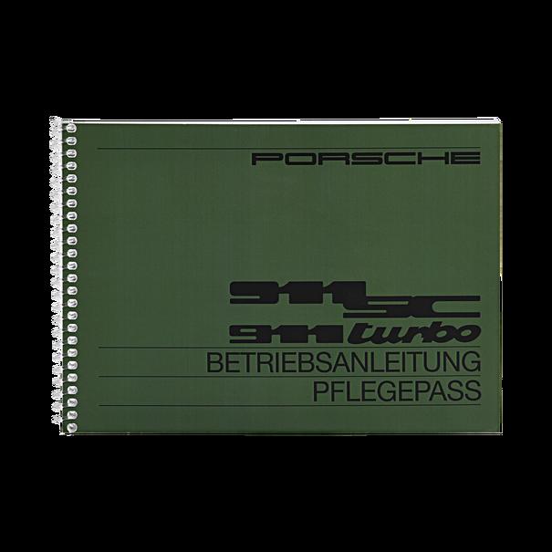Porsche Instructieboekje voor 911 SC, Turbo (DE) – modeljaar 1982