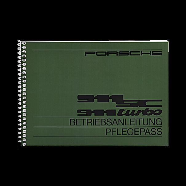 Porsche Instructieboekje voor 911 SC, Turbo (Engels) – modeljaar 1982