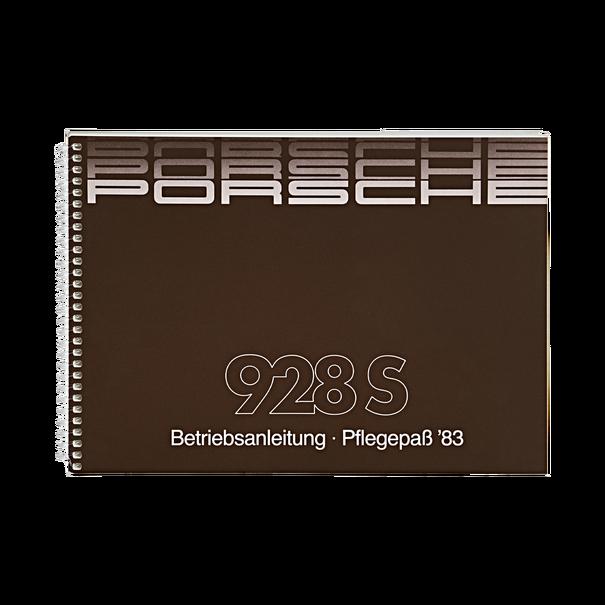 Porsche Instructieboekje voor 928 S (Duitstalig) – modeljaar 1983