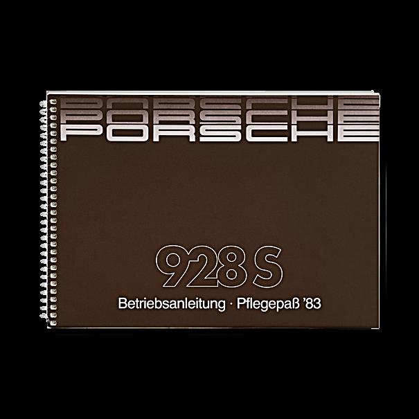 Porsche Instructieboekje voor 928 S (Engels) – modeljaar 1983
