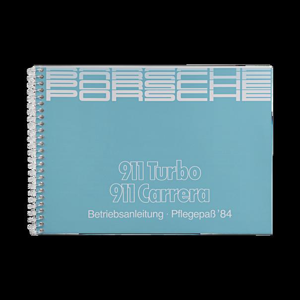 Porsche Instructieboekje voor 911 Carrera, Turbo (DE) – modeljaar 1984