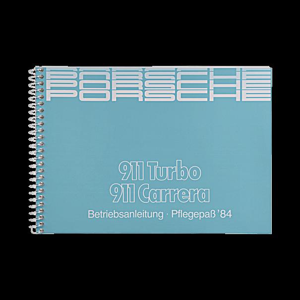 Porsche Instructieboekje voor 911 Carrera, Turbo (Engels) – modeljaar 1984