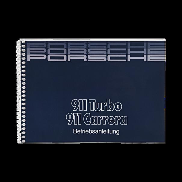 Porsche Instructieboekje voor 911 Carrera, Turbo (Duitstalig) – modeljaar 1986
