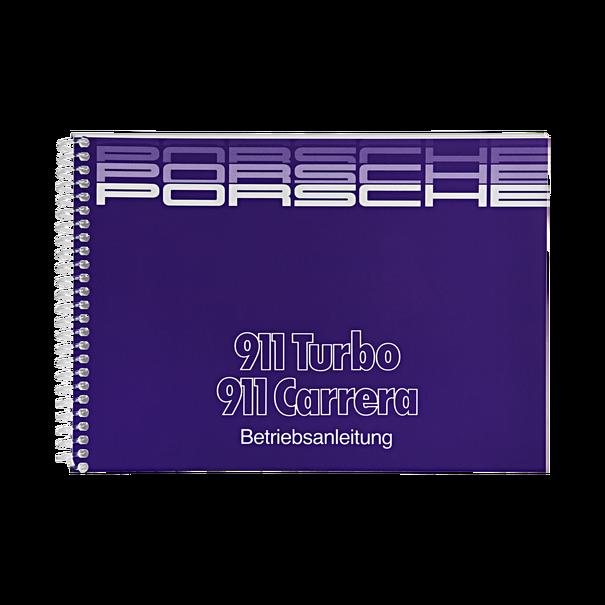 Porsche Instructieboekje voor 911 Carrera, Turbo (Duitstalig) – modeljaar 1988