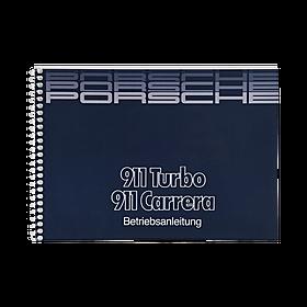 Porsche Instructieboekje voor 911 Carrera, Turbo (Engels) – modeljaar 1986