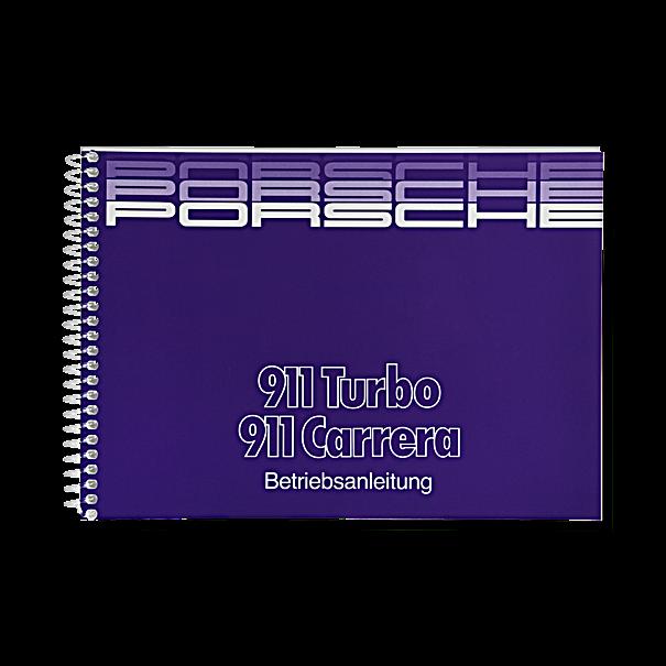 Porsche Instructieboekje voor 911 Carrera, Turbo (Engels) – modeljaar 1988