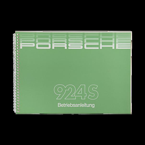 Porsche Instructieboekje voor 924 S (Duitstalig) – modeljaar 1986