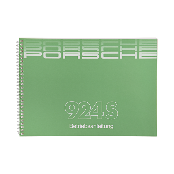 Porsche Instructieboekje voor 924 S (Duitstalig) – modeljaar 1987