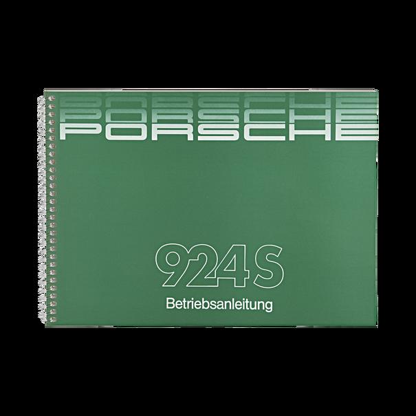 Porsche Instructieboekje voor 924 S (Duitstalig) – modeljaar 1988