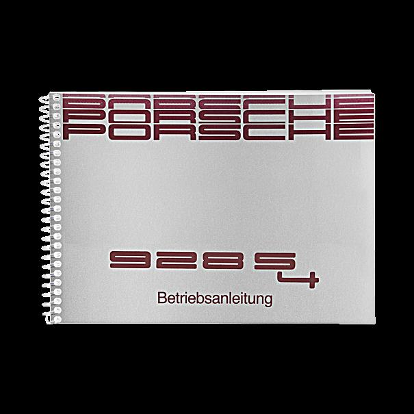Porsche Instructieboekje voor 928 S4 (Engels) – modeljaar 1989