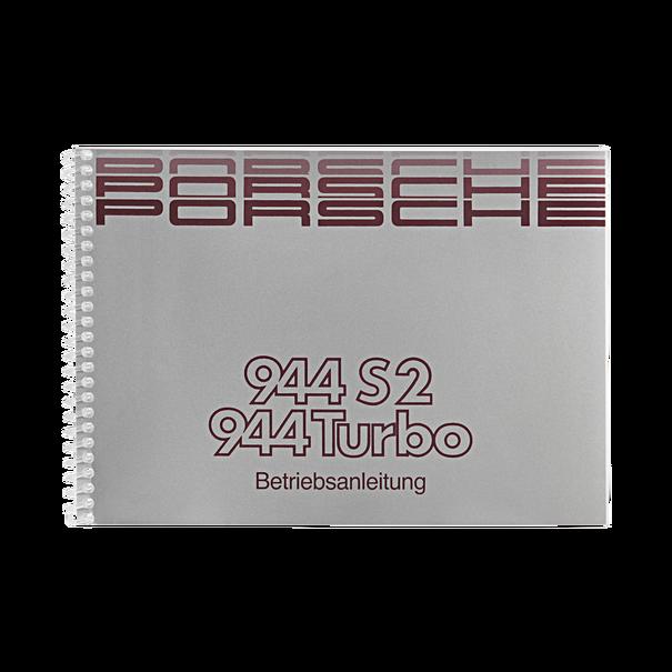 Porsche Instructieboekje voor 944 S2, 944 Turbo (Duitstalig) – modeljaar 1990