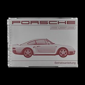 Porsche Instructieboekje voor 959 (DE) – modeljaar 1987