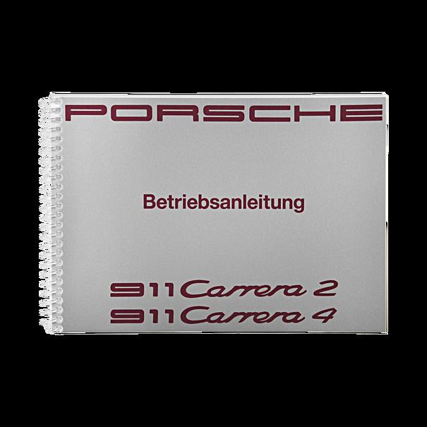 Porsche Instructieboekje voor 911 Carrera 2–4 (Duitstalig) – modeljaar 1991