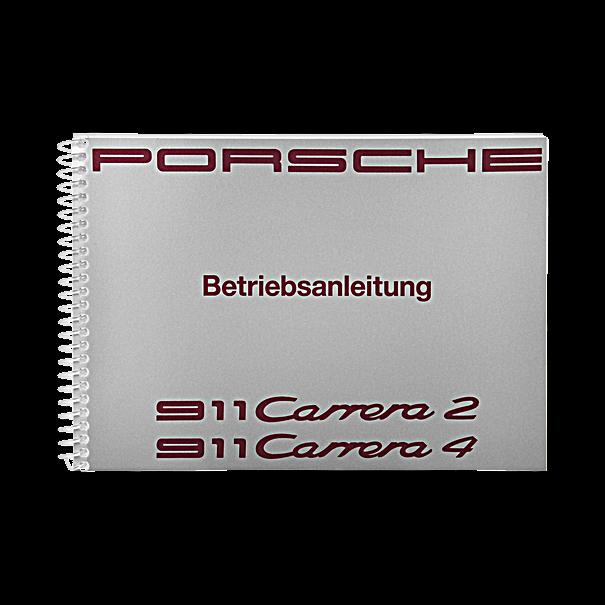 Porsche Instructieboekje voor 911 Carrera 2-4 (Engels) – modeljaar 1991