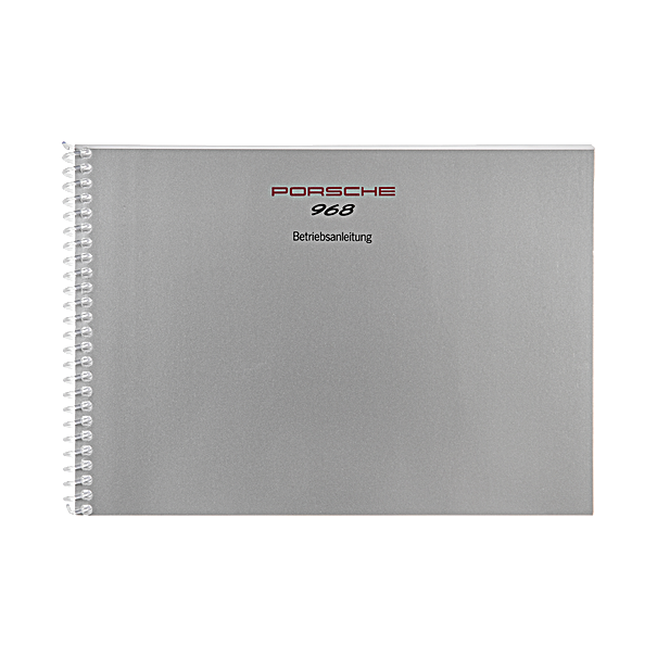 Porsche Instructieboekje voor 968 (Engels) – modeljaar 1992