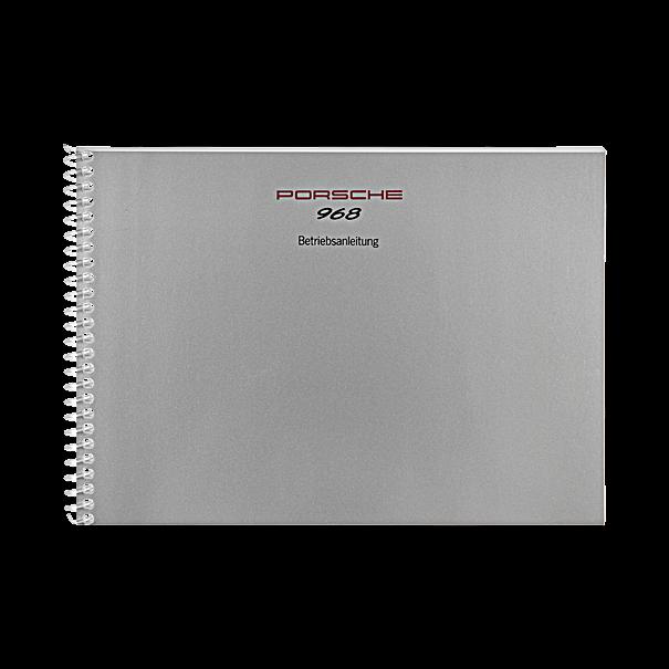 Porsche Instructieboekje voor 968 (Engels) – modeljaar 1993
