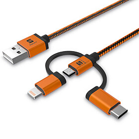 SEAT 3-in-1 oplaad-/data-kabel - USB A