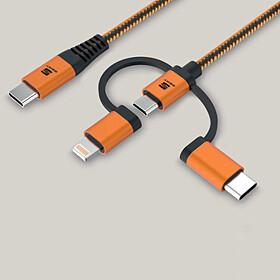 SEAT 3-in-1 oplaad-/data-kabel - USB C