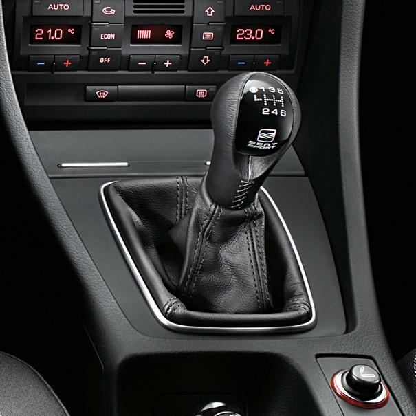 SEAT Pookknop Speed, leer / zwart, Exeo