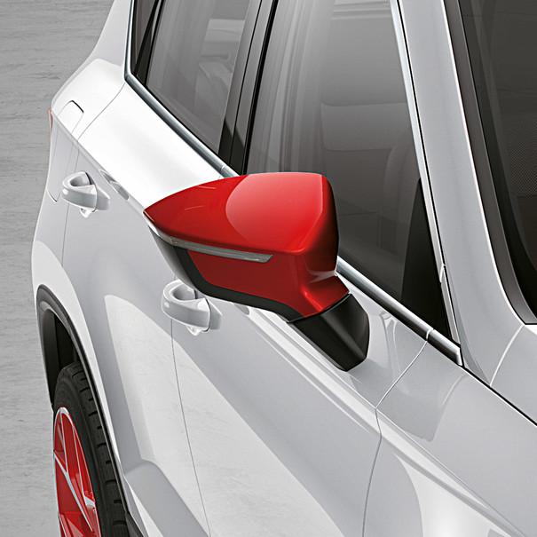 SEAT Spiegelkappen Emocion Red