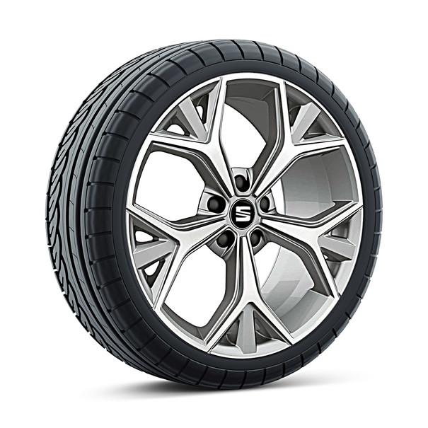 SEAT 19 inch lichtmetalen zomerset Aneto mat zilver