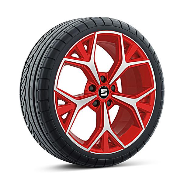 SEAT 19 inch lichtmetalen zomerset Aneto Emocion Red