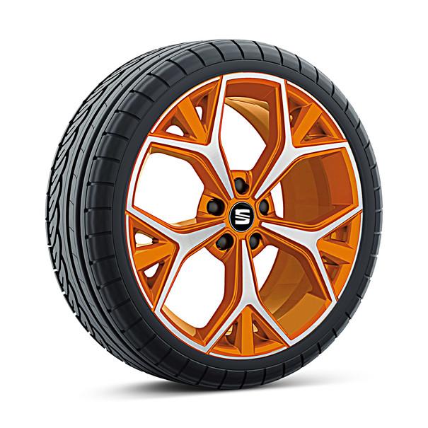 SEAT 19 inch lichtmetalen zomerset Aneto Samoa Orange