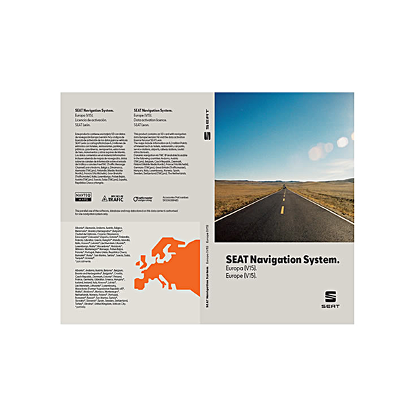 Navigatie update, SEAT navigation system MIB, West-Europa (V15)