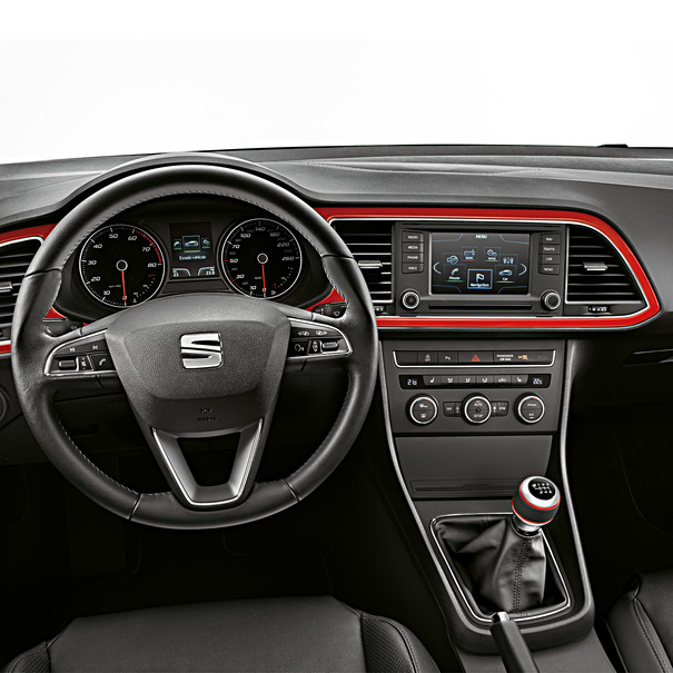SEAT Dashboard decoratie Leon, rood