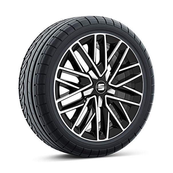 SEAT 17 inch lichtmetalen zomerset 10-dubbelspaaks diamond cut black