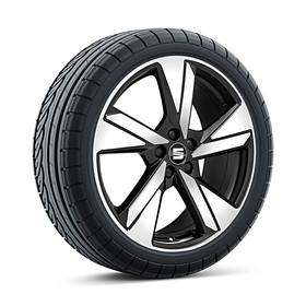 SEAT 18 inch lichtmetalen zomerset 5-spaaks diamond cut black