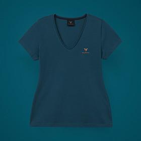 SEAT CUPRA T-shirt dames, petrol blauw