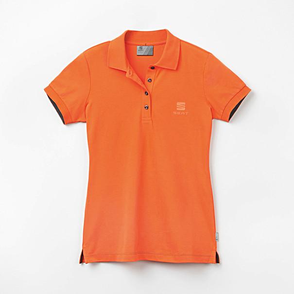 SEAT Poloshirt dames oranje