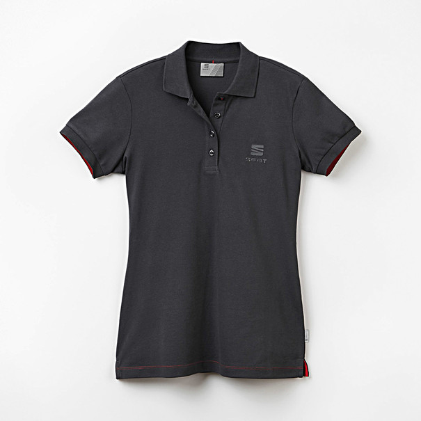 SEAT Poloshirt dames antraciet