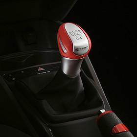SEAT Pookknop aluminium / rood, 5 versnellingen, Ibiza