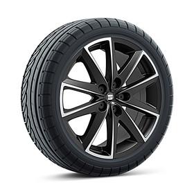SEAT 17 inch lichtmetalen zomerset 10-spaak zwart