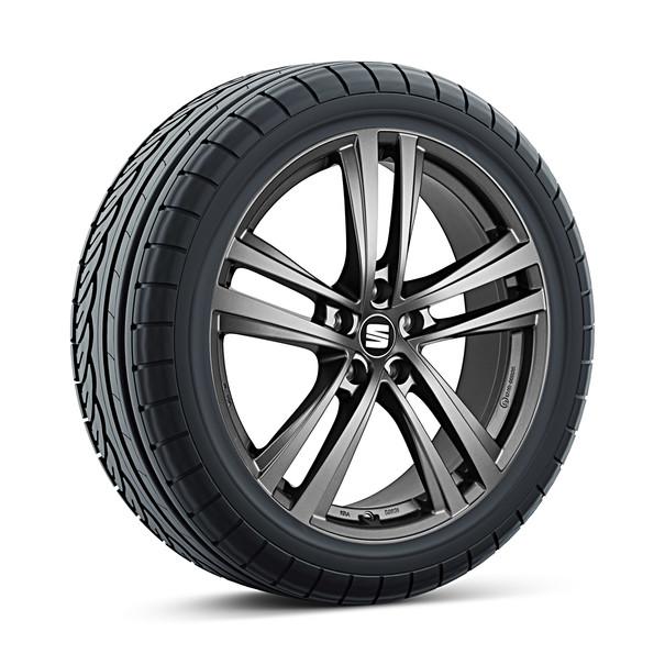SEAT 17 inch lichtmetalen winterset Abrera antraciet, Pirelli